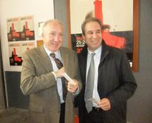 Francis Riolacci, adjoint au maire de Bastia délégué aux affaires culturelles, en compagnie de son collègue et ami Jean Zuccarelli