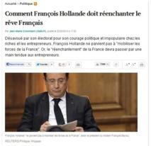 """""""François Hollande paie son courage politique"""""""