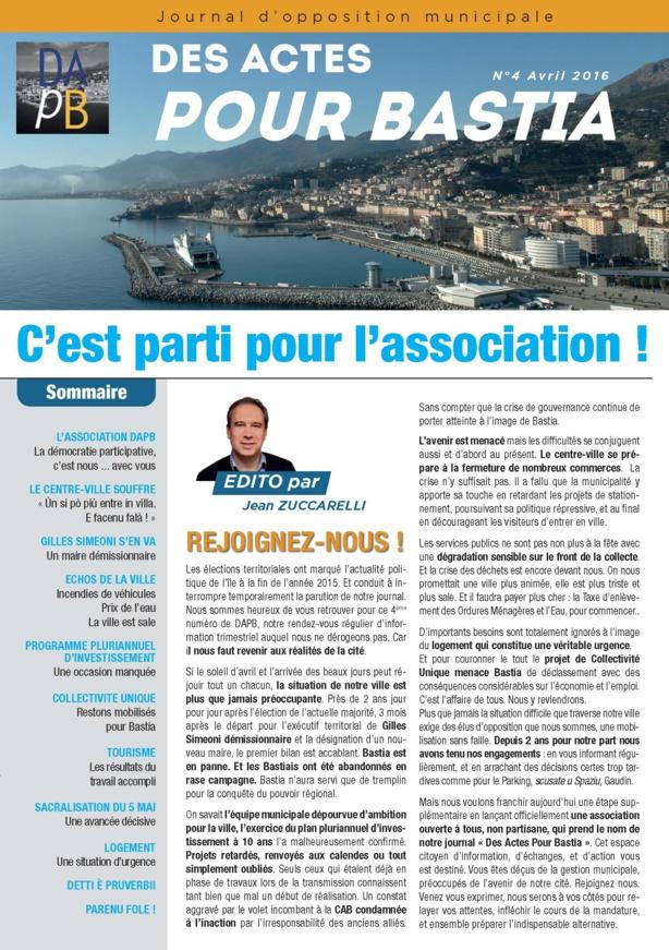 Journal n° 4 Des Actes Pour Bastia