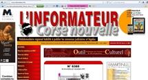 """Interview """"J'entreprends en Corse, un portail internet en développement"""" - L'Informateur Corse Nouvelle du 28/10 au 03/11/2011"""