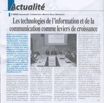 """Article """"Les TIC comme leviers de croissance"""" - Le Petit Bastiais du 7 au 13/11/2011"""