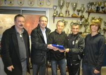 Lundi 11 février 2013, au siège de l'AS Furiani-Agliani où une cérémonie était organisée pour célébrer l'événement comme il se doit