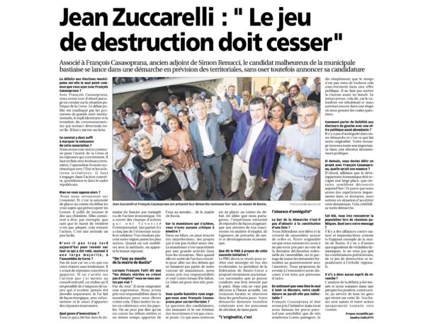 Réunion publique avec Francois Casasoprana: revenons à l'essentiel!