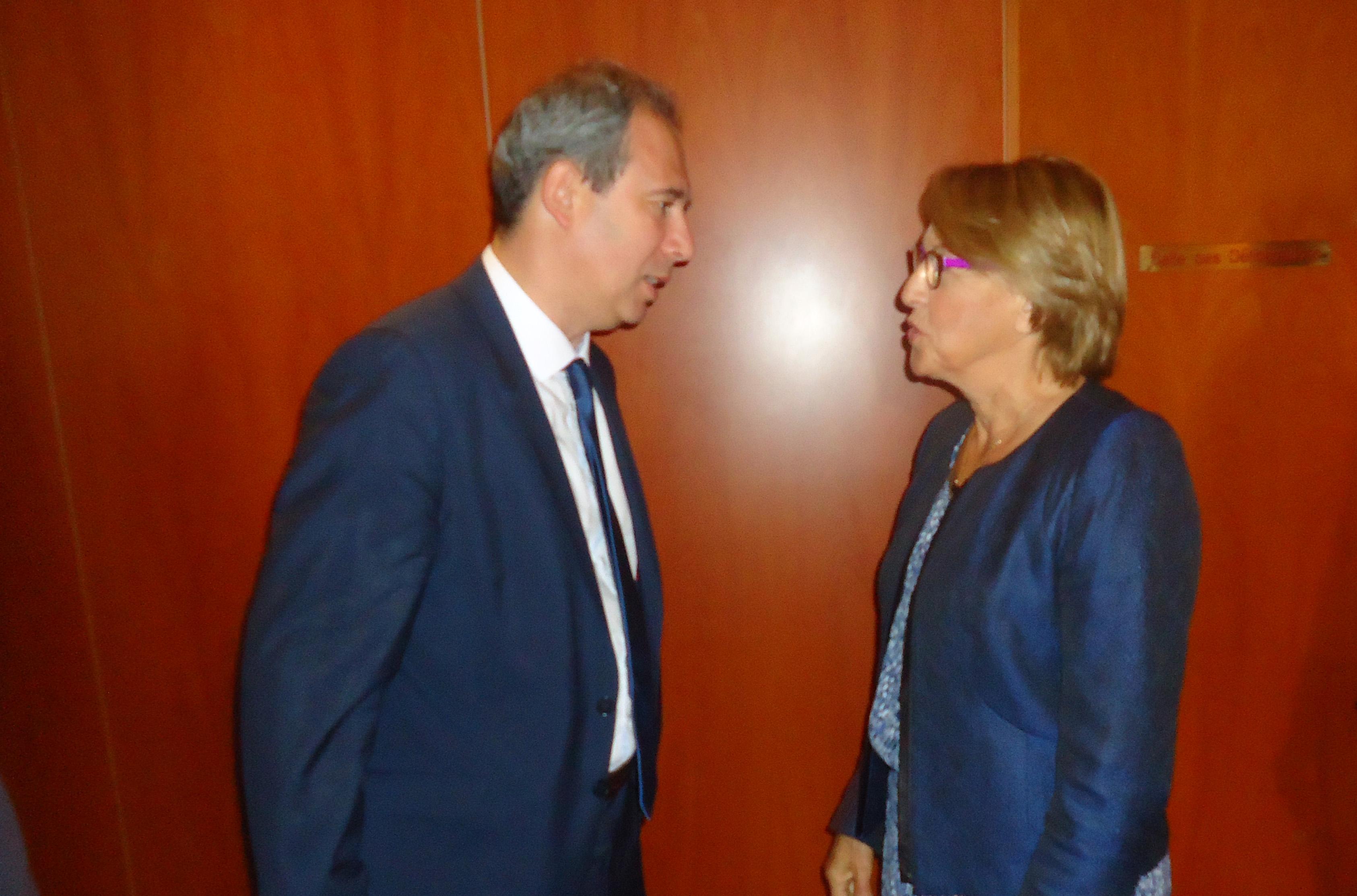 Rencontre avec la ministre Marilyse Lebranchu en visite dans l'île