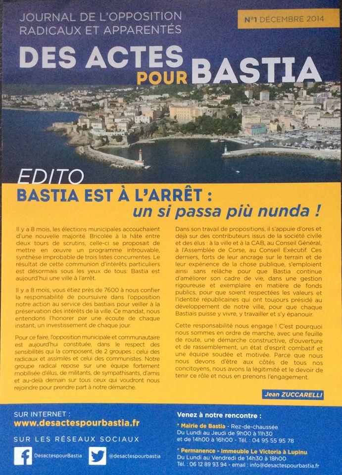 Des Actes pour Bastia!