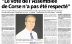 Corse Matin revient sur ma lettre ouverte un Premier Ministre